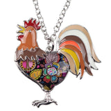 Enamel Chicken Rooster Necklace