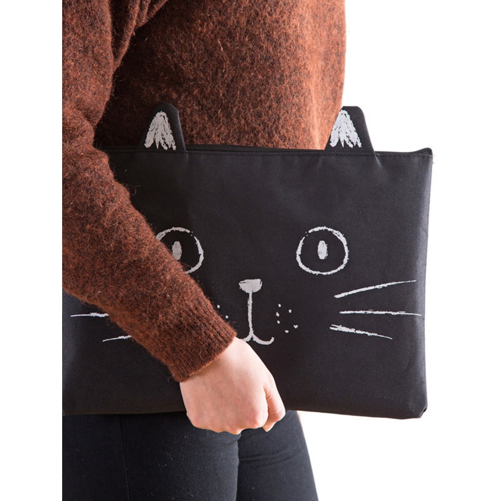 Cat Pattern Canvas File Folder Bag
