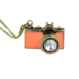 Colorful Enamel Camera Pendant Necklace (Several colors to choose from!)