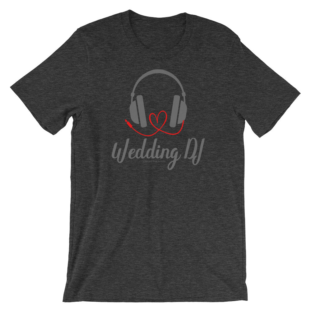 """Wedding DJ"" with heart cord Short-Sleeve Unisex T-Shirt"