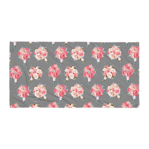 Wedding Bouquets Pattern (Florist) Towel