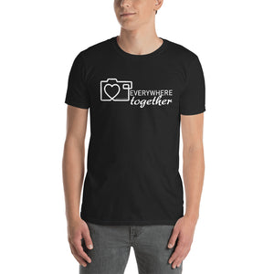 Everywhere Together, Camera with Heart. Photographer, Photography Short-Sleeve Unisex T-Shirt