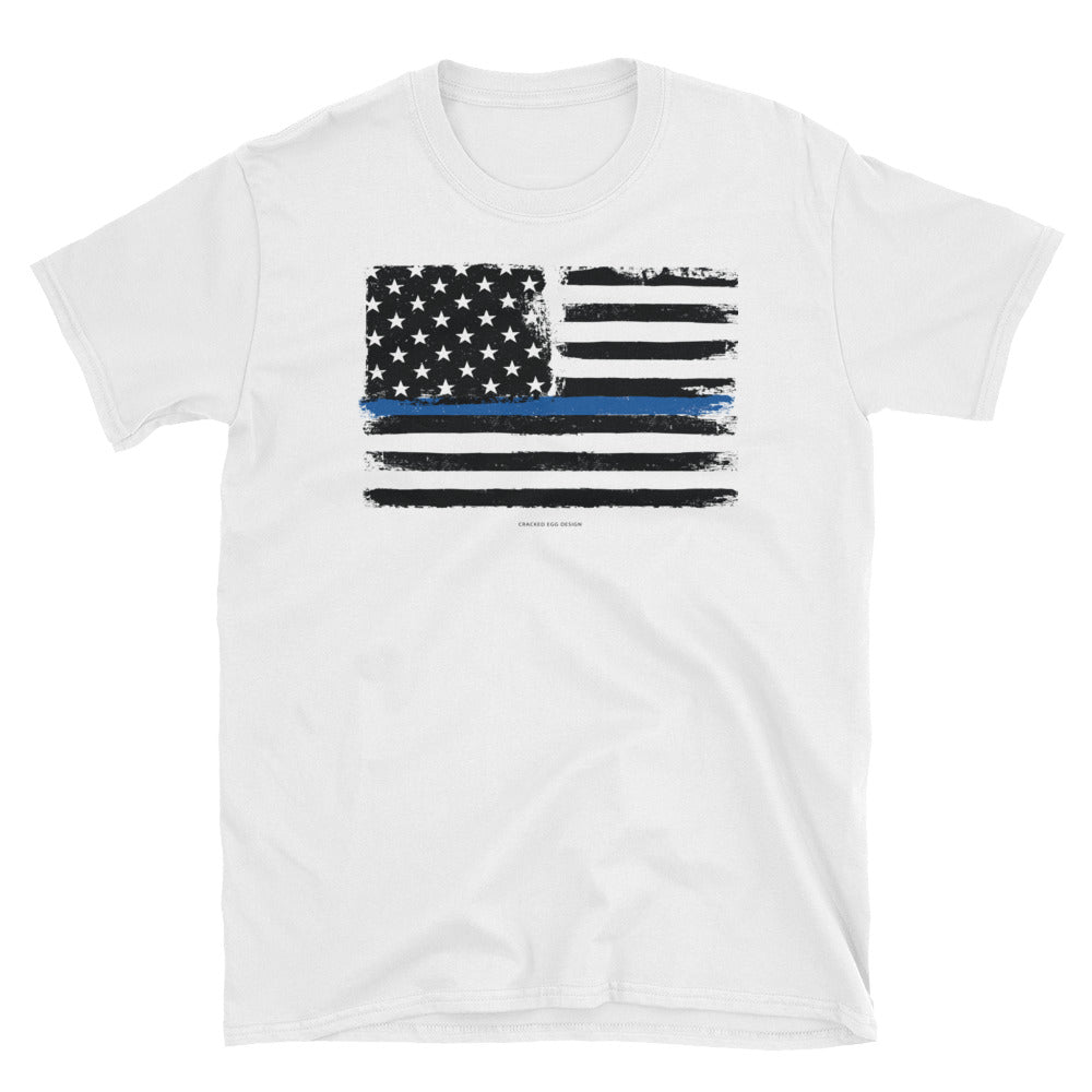 Thin Blue Line Flag Police/LEO Suppport Short-Sleeve Unisex T-Shirt