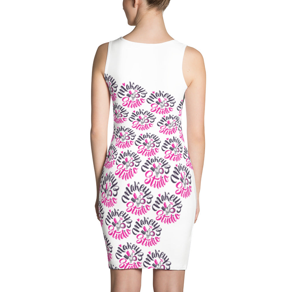 """Makeup Studio"" Pattern Sublimation Cut & Sew Dress"