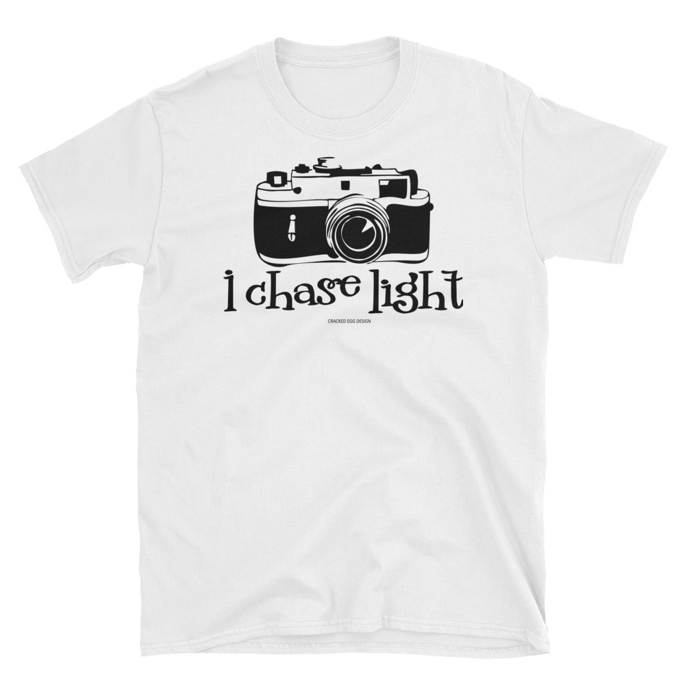 """I chase light"" (vintage camera) Short-Sleeve Unisex T-Shirt"
