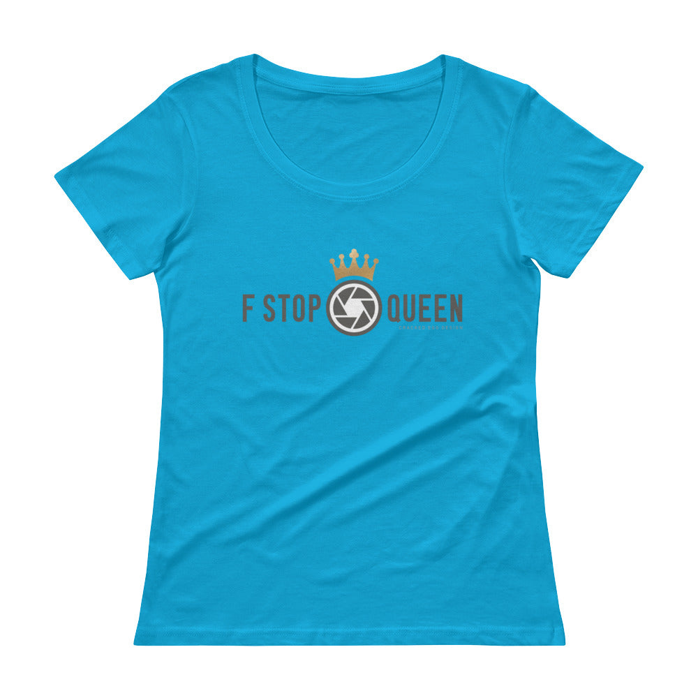 F Stop Queen Long Version Ladies' Scoopneck T-Shirt