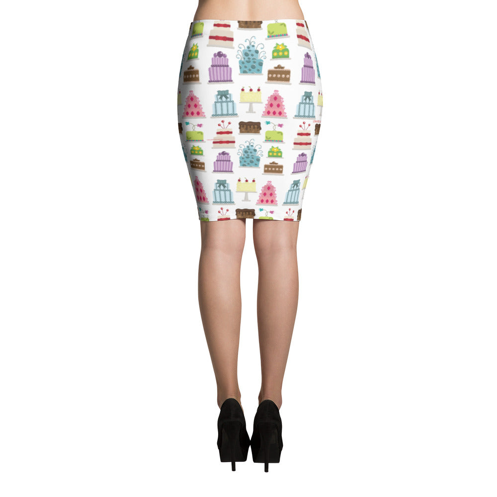All about that cake (foodie, wedding cake artist, baker) Pencil Skirt
