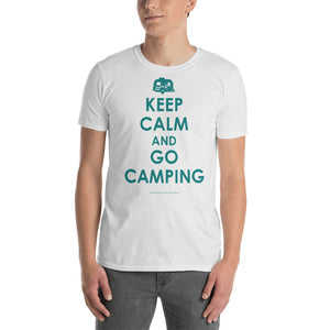 """Keep Calm and go Camping"" Vintage Camper Short-Sleeve Unisex T-Shirt"