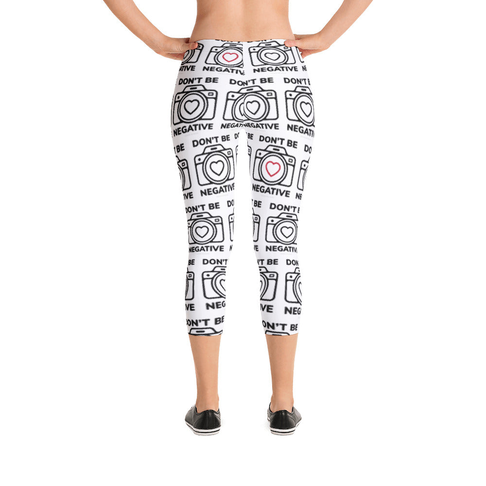 Dont Be Negative Cameras w/red hearts Capri Leggings