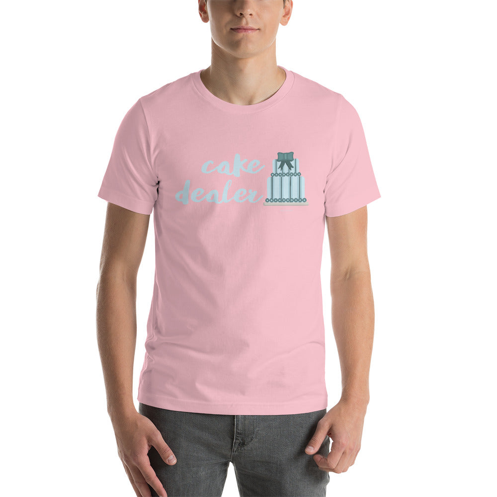 """Cake Dealer"" (foodie, wedding cake artist, baker) Short-Sleeve Unisex T-Shirt"