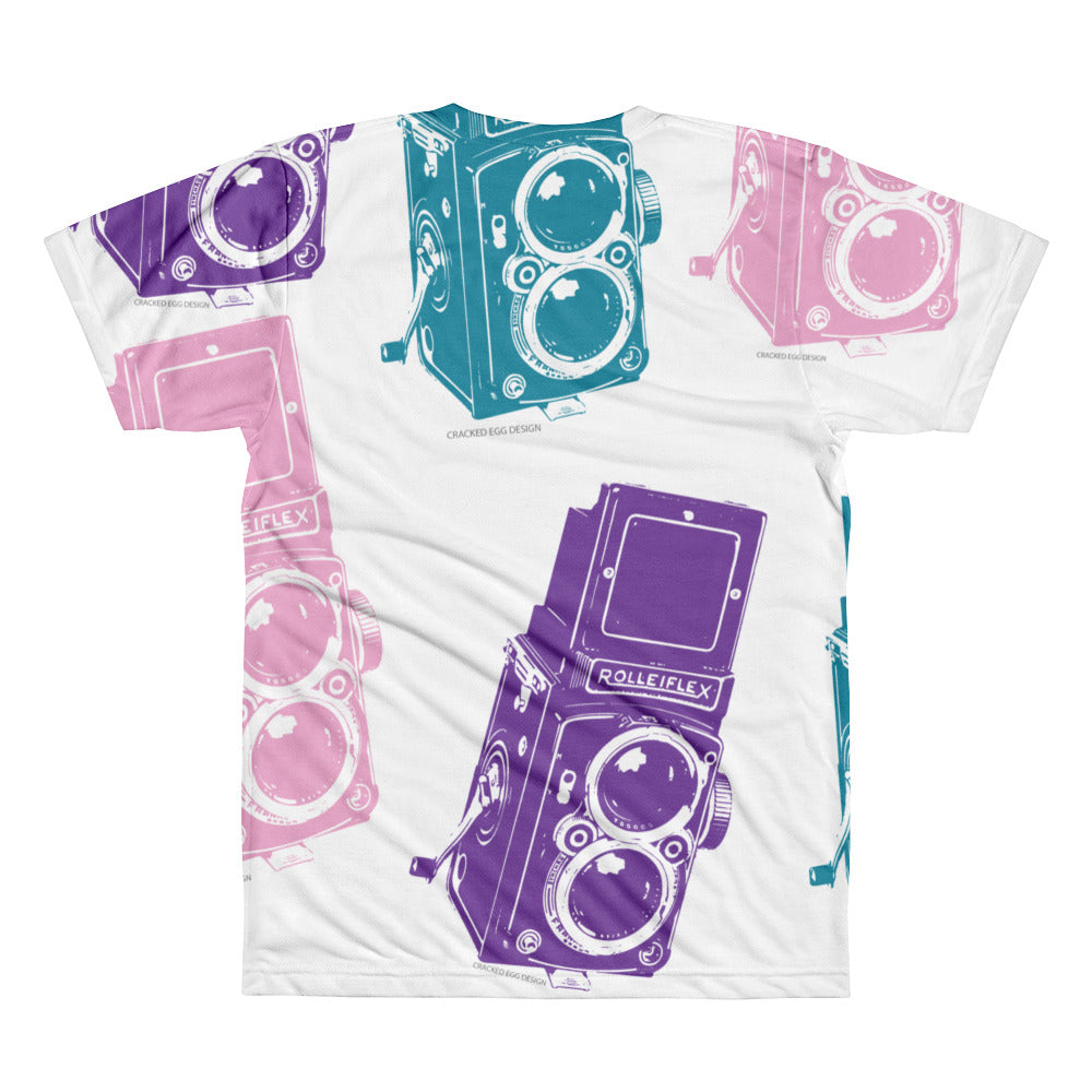 Rolleiflex Colorful Vintage Camera All-Over Printed T-Shirt