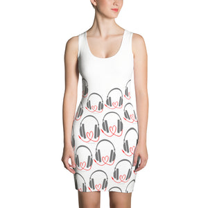 DJ with heart cord Sublimation Cut & Sew Dress