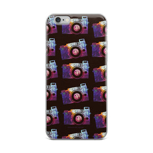 Colorful Splotch Pattern Camera Print iPhone Case