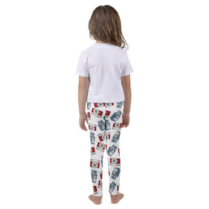Blue and Red Camera Pattern Print Kid's leggings