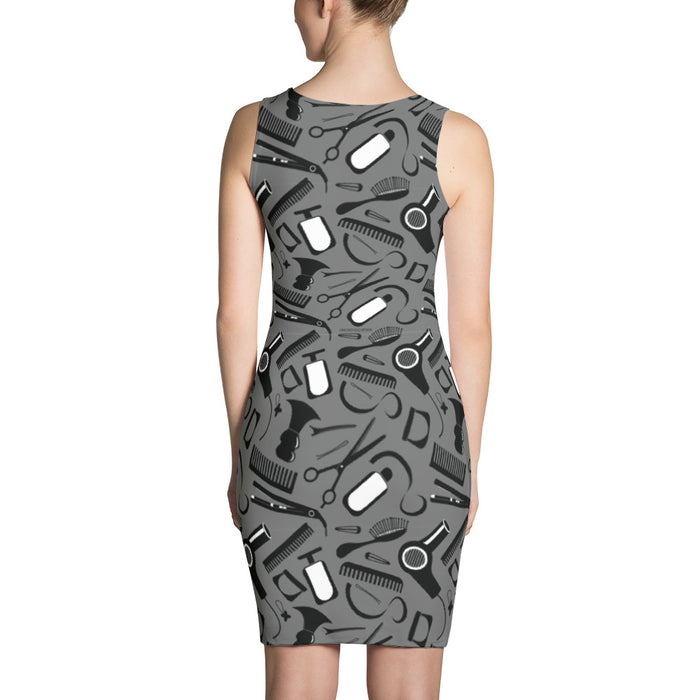 Hair Stylist Tools of the Trade (Dark grey) Sublimation Cut & Sew Dress