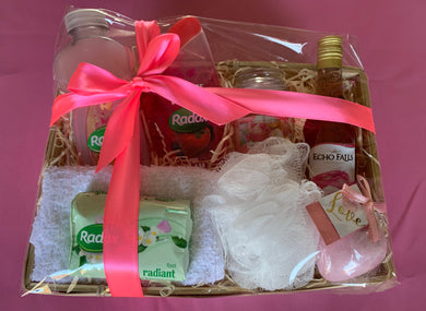 Radox hamper with wine
