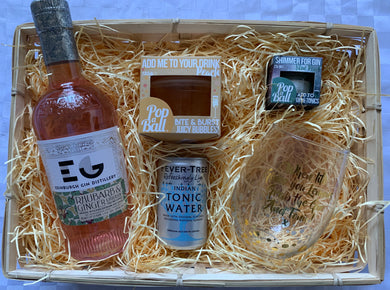 Edinburgh gin popaball basket
