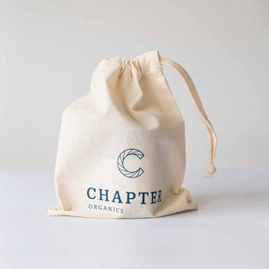 Chapter Organics The Tonic Candle in a cotton canvas bag