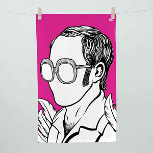Bold & Noble  - Elton John Tea Towel