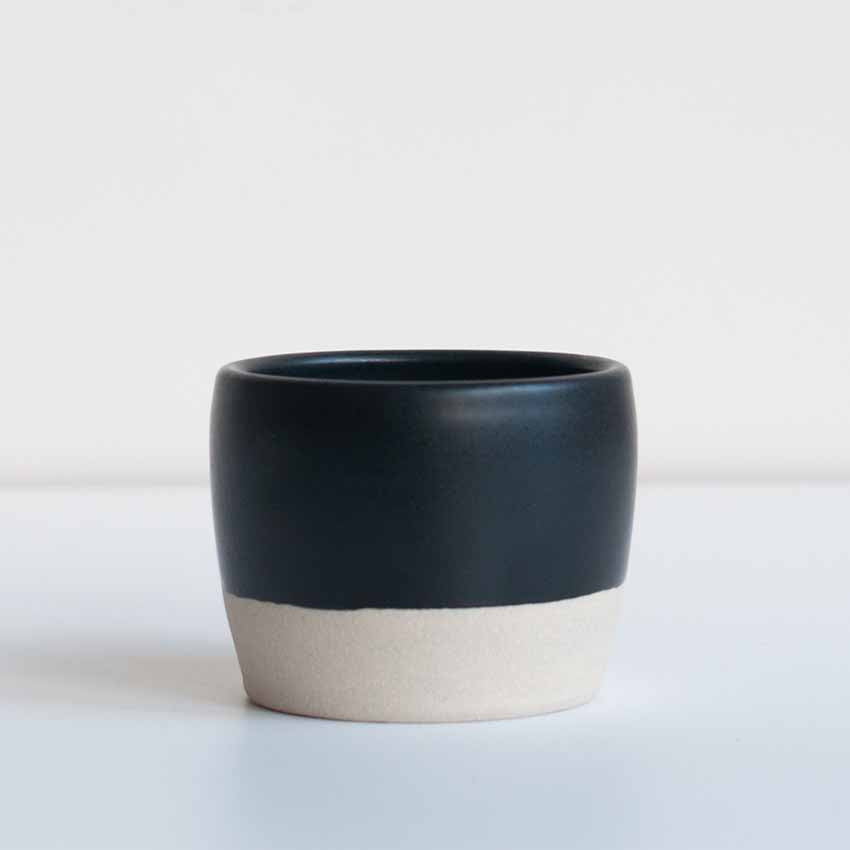 Dor & Tan Tea Bowl in Matte Black
