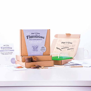 Edible Flower Baking And Growing Kit Unboxed