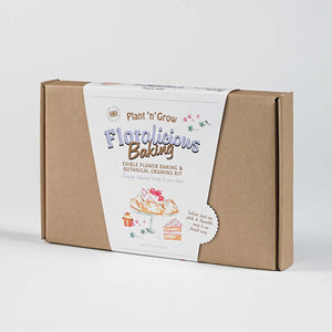 Edible Flower Baking And Growing Kit Box