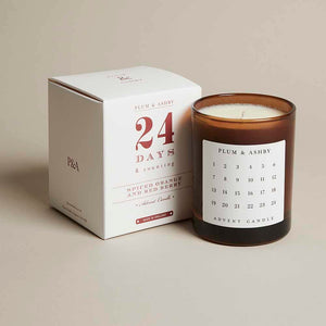 Plum & Ashby - Advent Candle Spiced Orange and Red Berry - 210g