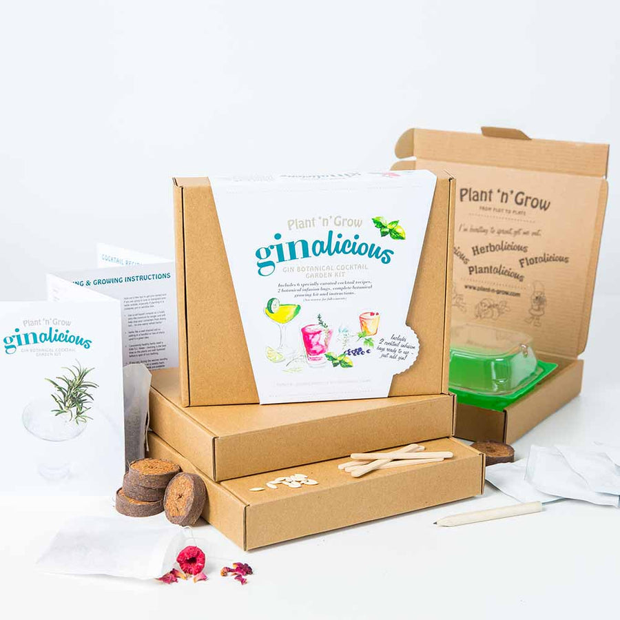 Gin Botanical Cocktail Growing Kit Box
