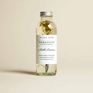 Plum & Ashby - Geranium and Sweet Orange Bath Essence - 225ml