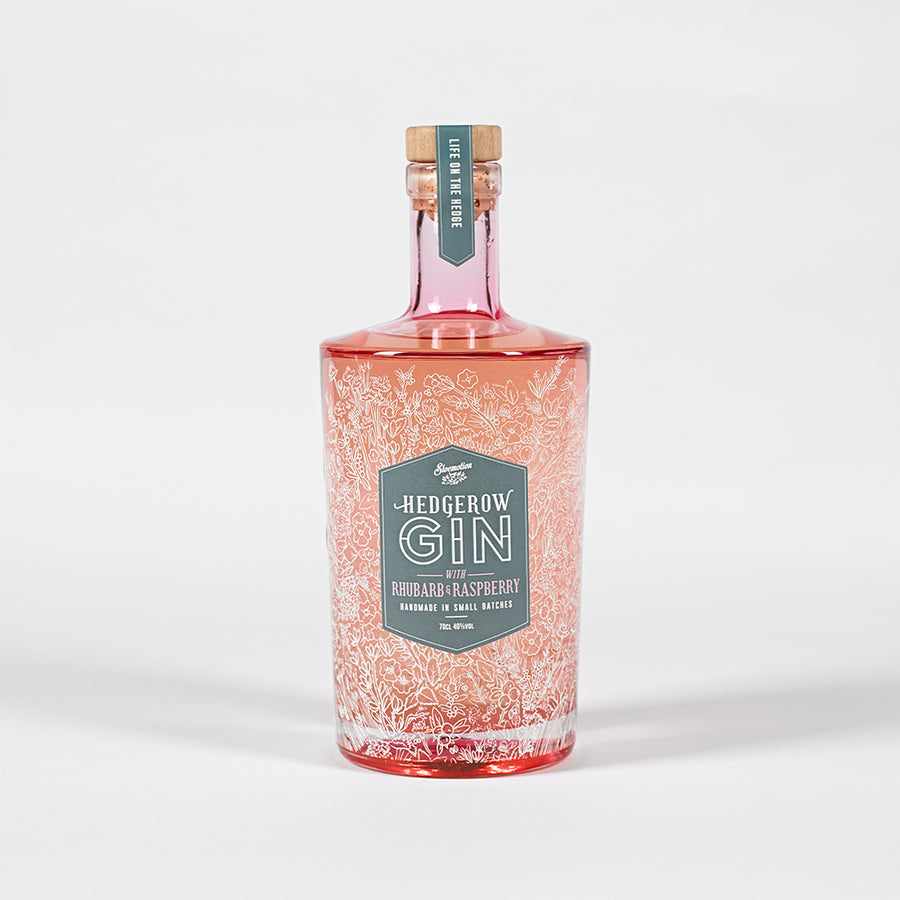 Sloemotion Hedgerow Gin with Rhubarb and Raspberry