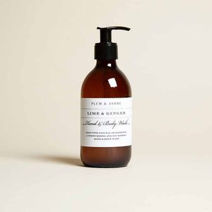 Plum & Ashby -  Lime and Ginger Hand Body Wash - 300ml