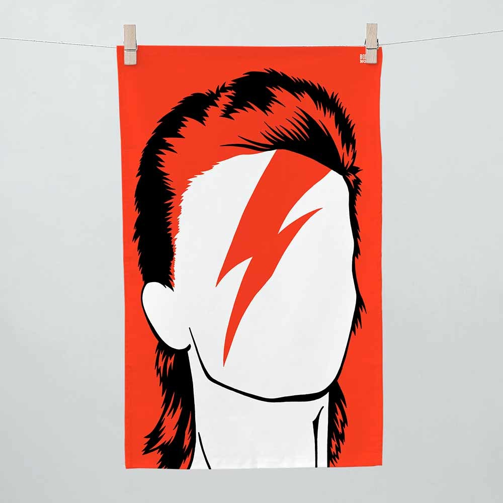 Bold & Noble  - David Bowie Tea Towel