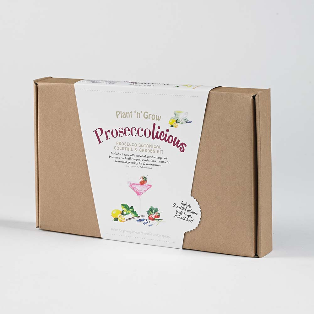 Prosecco Botanical Cocktail Garden Growing Kit Box