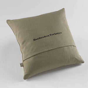 Yorkshire Lad Natural Fabric Cushion Back