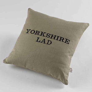 Yorkshire Lad Natural Fabric Cushion Front