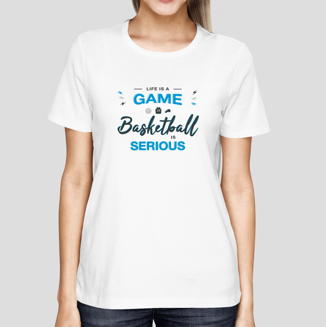 T-shirt Basketball is serious FEMME
