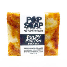Load image into Gallery viewer, Pulpy Fiction Peppermint and Orange Vegan Soap Bar