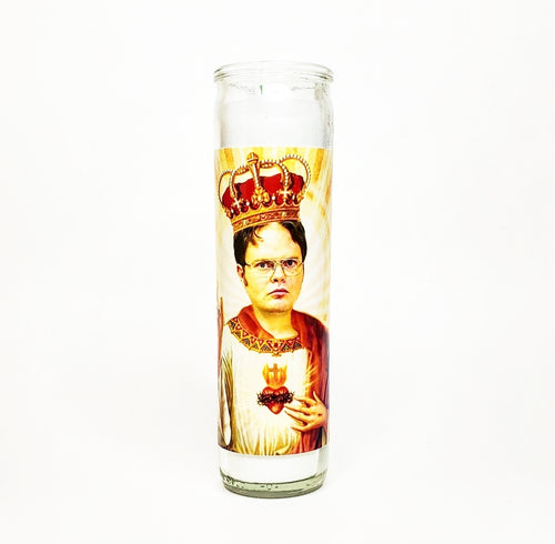 DWIGHT SHRUTE CELEBRITY CANDLE