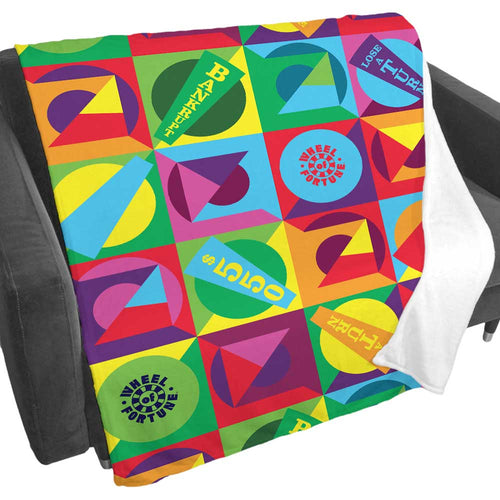 Wheel of Fortune Colorblock Wheel Fleece Blanket