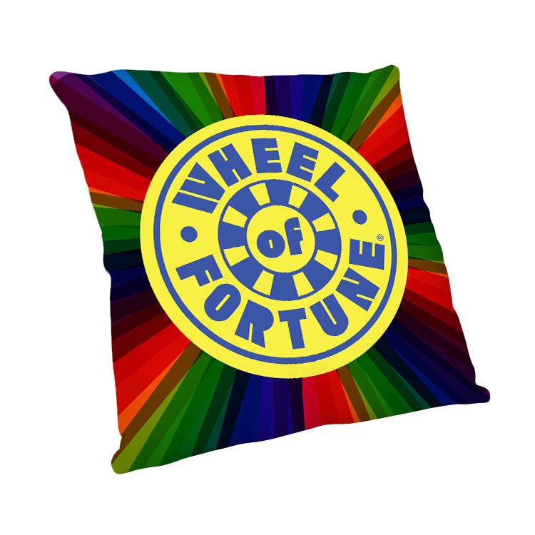 Wheel of Fortune Logo Burst Pillow