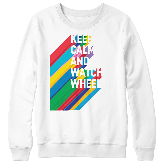 Wheel of Fortune Keep Calm and Watch Wheel Crewneck
