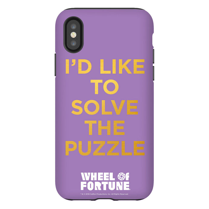 Wheel of Fortune I'd Like to Solve the Puzzle Phone Case