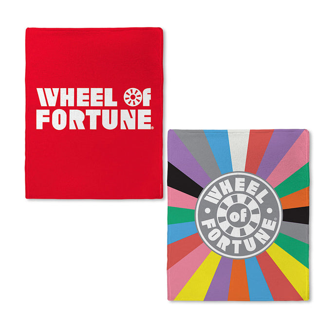 Wheel of Fortune Close-Up Wheel Fleece Blanket