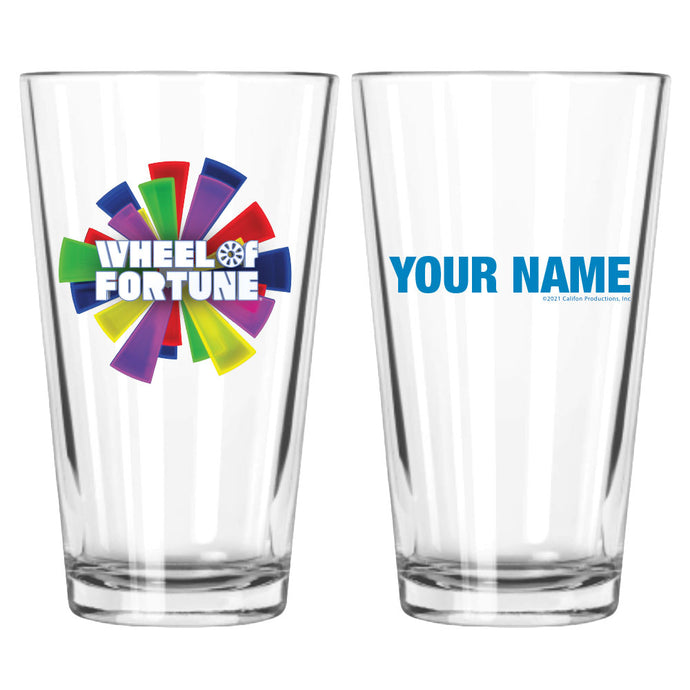 Wheel of Fortune Burst Logo Personalized Pint Glass