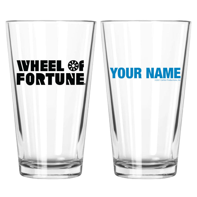 Wheel of Fortune Logo Personalized Pint Glass