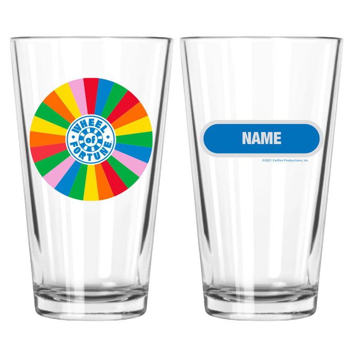 Wheel of Fortune Wheel Personalized Pint Glass