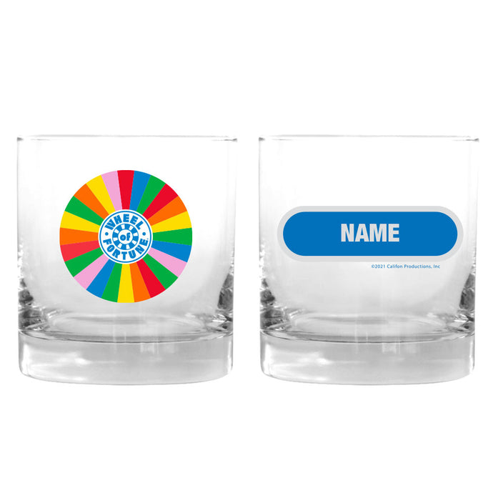 Wheel of Fortune Wheel Personalized Rocks Glass