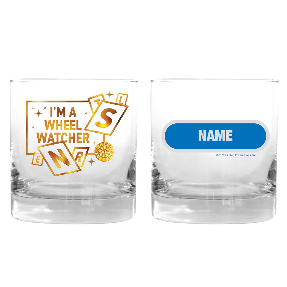 I'm a Wheel Watcher Personalized Rocks Glass