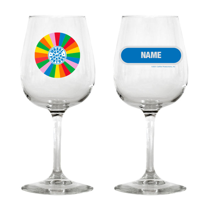 Wheel of Fortune Wheel Personalized Wine Glass