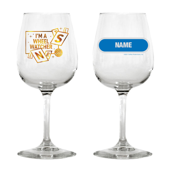I'm a Wheel Watcher Personalized Wine Glass